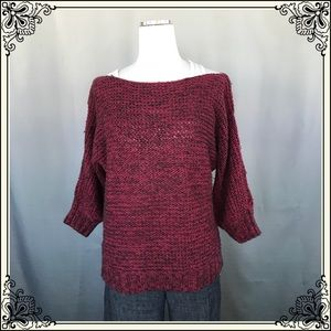 Staring at Stars Burgundy and Black Sweater #2005